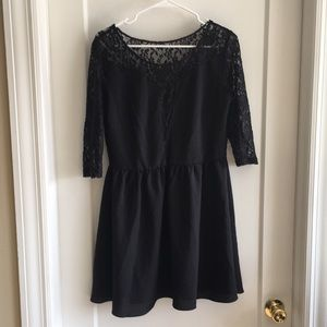 H&M Black lace cutoutsexy LBD size large